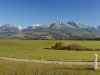 Rozlúčková panoráma Vysokých Tatier
