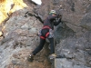 že najťažšia časť lezenia