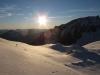 západ slnka na Studdle hutte