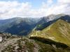 Červené vrchy, vzadu Z. Tatry