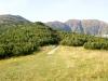 Pohľad z Predného Salatína na smer našej trasy.