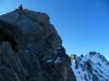 Miňo na severnom vrchole (4108), v pozadí hlavný vrchol (4199)