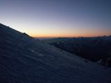 Nádherný východ slnka nad Kaukazom