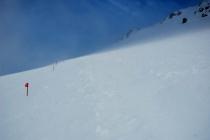 Začiatok traverzu východného Elbrusu