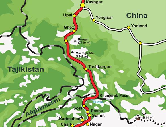 Karakoram Highway v Číne