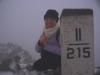 Hrubý štít (Szpiglasowy Wierch) 2172 m v hmle, vetri a zime