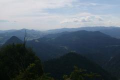 Panoráma Pieniny - výhľad z Troch Korún