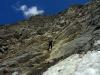 Na dvakrát zlaňujeme rozsypaný terén zo sedla na ľadovec