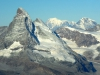 Matterhorn, Dent d´Hérens, Mont Blanc, Grand Combin